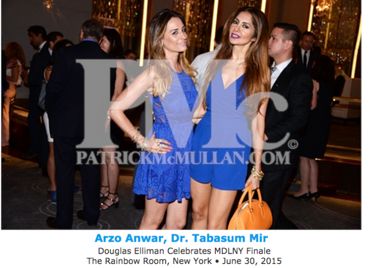 Dr Tabasum Mir and Arzo Anwar at MDLNY finale party